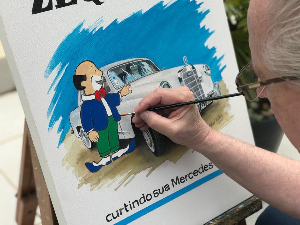 O paranista Palhaço Zequinha recriado pelo artista Nilson Müller