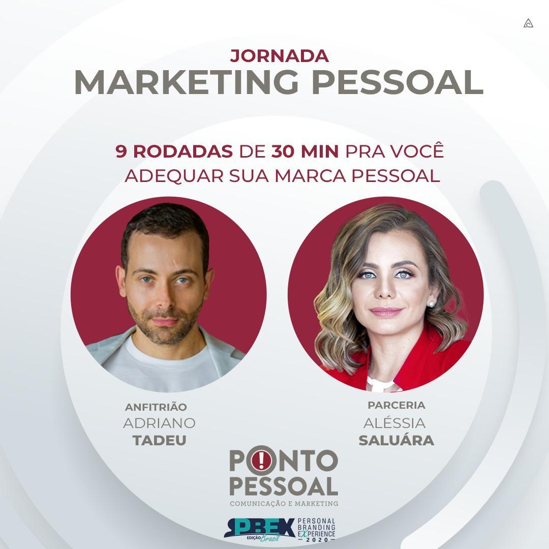 Jornada Marketing Pessoal dia 22 de julho 2020 no Instagram